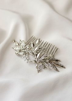 Swept Away   7 delicate wedding hair combs for side swept hair