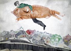 Marc Chagall, Over the town. Occupy the Sky