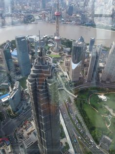 On the top of Shanghai city