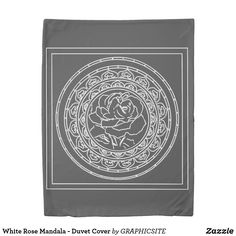 Shop White Rose Mandala - Duvet Cover created by GRAPHICSITE. Mandala Rose, Geometric Mandala, Mandala Design, Mandala Duvet Cover, Twin Size Duvet Covers, Counting Sheep, Wedding Announcements, White Roses, Cover Art