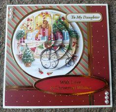 Hunkydory Handmade Christmas Card - Daughter, shops