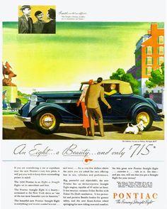 Pontiac Straight Eight Cabriolet 1934 - Mad Men Art: The 1891-1970 Vintage…