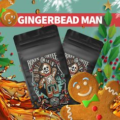 Tis the season for delicious Holiday treats and what better way to celebrate than with a fresh cup of our Gingerbread Man coffee? It's a perfect blend of your favorite holiday spices with a hint of sweetness that will leave your tastebuds feeling jolly. Gingerbread Man is also the perfect gift for the coffee lovers in your life! Don't miss this special release, it will only available during the holiday season. As always, our coffee is roasted-to-order and guaranteed to be fresh. Coffee World, Men Coffee, Coffee Lover Gifts, Coffee Lovers, Gingerbread Man Crafts, Coffee Carts, Coffee Company, Perfect Christmas Gifts, Holiday Treats
