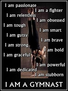 Gymnastics I AM A GYMNAST Quote Inspiration by ArleyArtEmporium, $15.99