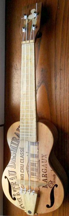 François Veissier reclaimed wood Soprano #LardysUkuleleOfTheDay #Soprano #Ukulele ~ https://www.pinterest.com/lardyfatboy/lardys-ukulele-of-the-day/ ~