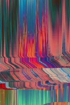 """Glitch art is the aestheticization of digital or analog errors, such as artifacts and other """"bugs"""", by either corrupting digital code/data or by physically manipulating electronic devices (for example by circuit bending). Glitch Art, Glitch Kunst, Glitch Photo, Psychedelic Art, Grafik Design, Op Art, Graphic, Textures Patterns, Oeuvre D'art"""