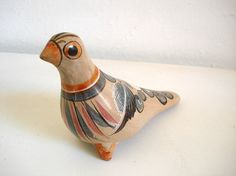 Vintage+Mexican+Tonala+Bird+Hand+Painted+by+onceovertwicevintage