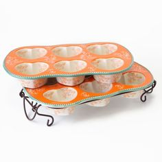 temp-tations® by Tara: temp-tations® Floral Lace Set of Two Heart-Shaped Muffin Pans