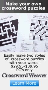 Crossword Weaver - make personalized class crossword