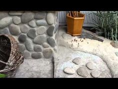 Облицовка природным камнем своими руками - YouTube