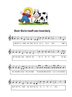 *▶ LIEDJE: Boer Boris heeft een boerderij...