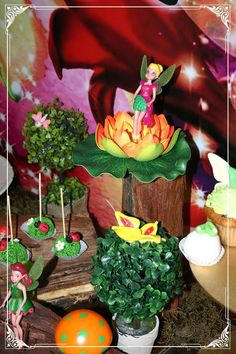 TInkerbell birthday party decorations! See more party ideas at CatchMyParty.com!