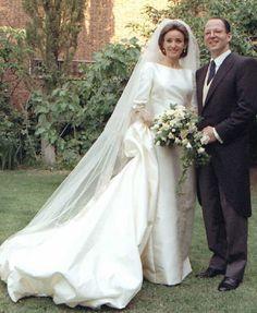 royalhats:  Wedding of Crown Prince Kardam of Bulgaria and Miriam de Ungría y López, July 11, 1996