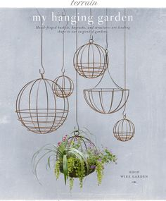 Hanging Garden.   Can make using dollar store baskets and liners