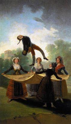 The Straw Manikin - Francisco Goya -Romanticism- Gallery: Museo del Prado… Francisco Goya, Spanish Painters, Spanish Artists, Art And Illustration, Goya Paintings, Fine Art, Old Master, Klimt, Cat Art