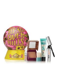 Benefit Cosmetics Head Over Hills Gift Set Makeup Kit Bag, Beauty Advent Calendar, Value Set, Full Makeup, Benefit Cosmetics, Woman Painting, Holiday, Accessories, Gift
