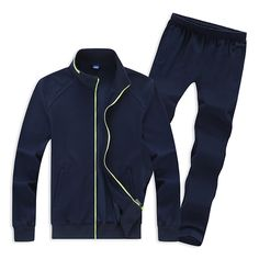f6932fb63 Sale 19% (68.82 ) - Mens Casual Plus Size Solid Color Tracksuits Stand