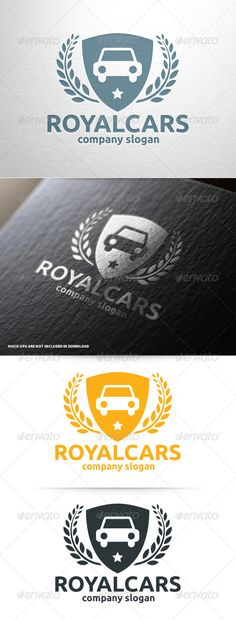 Royal Cars Logo Template — Vector EPS #auto #royal laurel wreath • Available here → https://graphicriver.net/item/royal-cars-logo-template/8025171?ref=pxcr
