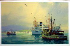 "Carl G. Evers (German born American, 1907 - 2000) ""ARGENTINA Arriving at Puntarcuase"" ~ watercolor"