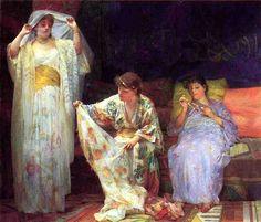 Henry Siddons Mowbray  (American Painter , 1858 – 1928) – The Harem