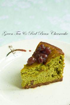Yue's Handicrafts ~月の工作坊~: Baked Green Tea & Red Bean Cheesecake