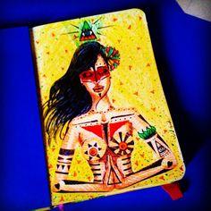 Sketchbook 03 por Julia Guedes ♥ #sketchbook #ilustration #nankin #stabilo #drawing #art