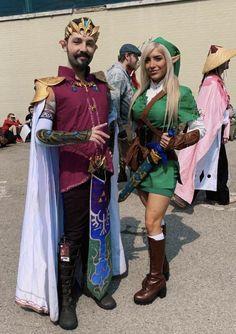 Genderbent Zelda and Link at Anime North 2019 Cosplay Diy, Best Cosplay, Zero Suit Samus Cosplay, Genderbent Cosplay, Heroes Fire, Link Costume, Amazing Cosplay, Supergirl, Diy Fashion