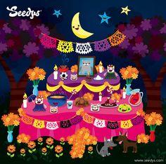 Feliz Dia de Muertos by Seedys, via Flickr