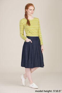 knee length   skirts and brogues  | Seasalt Alexandra Skirt