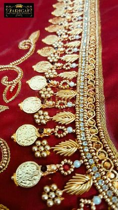 Saved by radha reddy garisa Kids Blouse Designs, Hand Work Blouse Design, Simple Blouse Designs, Bridal Blouse Designs, Aari Embroidery, Embroidery Works, Hand Embroidery Designs, Pattu Saree Blouse Designs, Lehenga Blouse