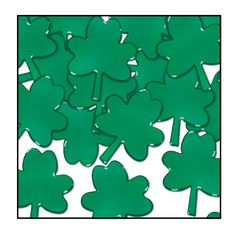 Fanci-Fetti Shamrocks green (12 Packs)