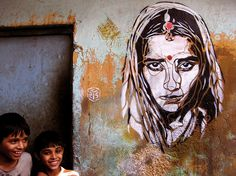Christian Guémy: stencils all over the world, New Delhi