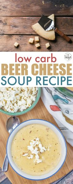Low carb beer cheese soup recipe #lowcarb #keto #soup #comfortfood #beer