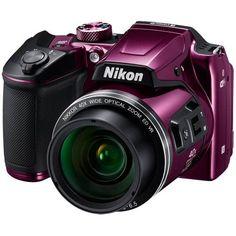 BeachCamera.com - Nikon COOLPIX B500 16MP 40x Optical Zoom Digital Camera w/ Built-in Wi-Fi - Purple