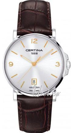 Certina DS Caimano Gent Silverfärgad/Läder Ø38 mm, modell C017.410.16.037.01 hos Uret.se. Material & Utförande Modell:C017.410.16.037.01 Serie:DS Caimano Gent Typ:H