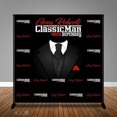 5a013d70b Classic Man 40th 50th 60th Birthday 8x8 Backdrop Step