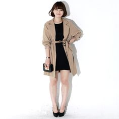 You will always have that ease and confidence in styling your outfit if you have this basic trench coat. It offers a pointed collar, front button down closure, long sleeves with belted cuffs, sash belt, and pockets. It will always give you that classy look if you top it over your casual, formal, or even office wear. This is a perfect coat for every weather.