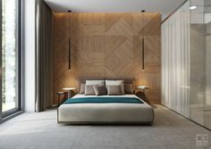 Bedroom of the Guest House project designed and visualized by a Ukrainian studio DEnew.
