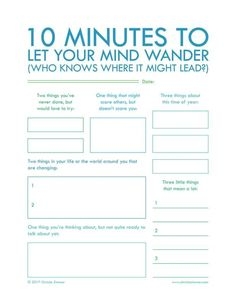 10 Minutes Forms ~ Daily personal journaling habit ~ useful for when time is short.