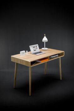 Schreibtisch in Eiche Vollpappe von Habitables auf Etsy