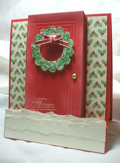 Pop Out Front Door Card  free Stampin' Up tutorials at songofmyheartstampers.com