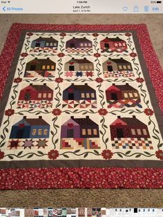 Patchwork Cottage by The Rabbit Factory. The pattern was 6 houses I made 12. One of my favorites.