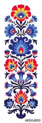 "the royalty-free vector ""Polish folk flowers papercut"" designed by ancymonic at the lowest price on . Browse our cheap image bank online to find the perfect stock vector for your marketing projects! Folk Art Flowers, Flower Art, Paper Flowers, Folk Embroidery, Embroidery Patterns, Indian Embroidery, Embroidery Stitches, Flower Patterns, Flower Designs"