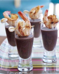 Sherried Black Bean Soup with Shrimp Recipe from Food & Wine