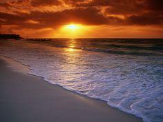 Sunrise Over The Caribbean Sea Playa Del Carmen Mexico - HD Travel ...