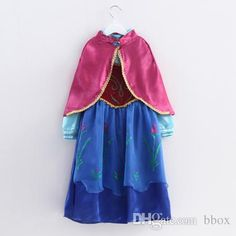 2015 New Fashion FROZEN Dresses Elsa Anna Brand Children Costumes Blue And  Red Cape Dress Big Kids Party Skirts Cosplay Dresses from Bbox e053921fda