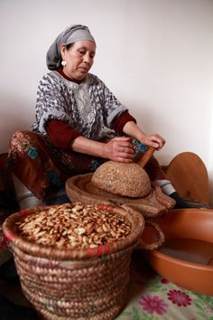 The production of argan oil by traditional method,near Marrakech,Morocco Visit Morocco, Marrakech Morocco, Marrakesh, Amazing India, Moroccan Decor, Moroccan Style, Africa Art, Military Women, North Africa