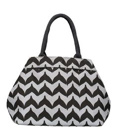 Take a look at this rockflowerpaper Black Torana City Tote on zulily today!