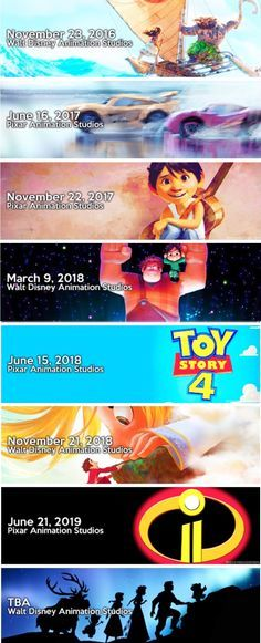 Upcoming Disney and Pixar films...IM SO EXCITED AAAAAAAAAH, except for cars 3