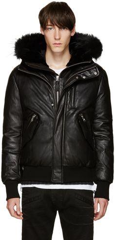 MACKAGE SSENSE Exclusive Black Down Glen Jacket. #mackage #cloth #jacket